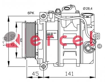 Airco compressor MBK 020 OEM