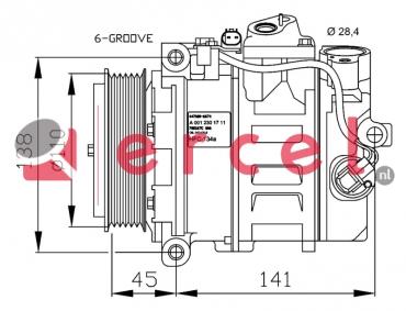Airco compressor MBK 019 OEM
