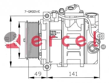 Airco compressor MBK 033 OEM