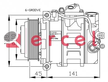 Airco compressor MBK 081 OEM