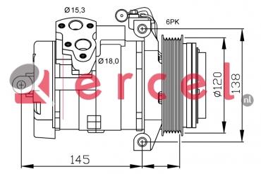 Airco compressor MBK 082 OEM