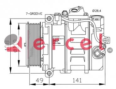 Airco compressor MBK 102 OEM