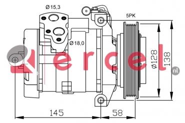 Airco compressor MBK 080 OEM