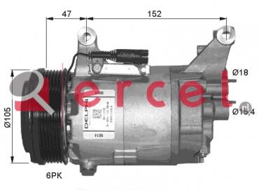 Airco compressor BMK 031 OEM