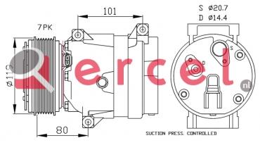 Airco compressor REK 096 OEM