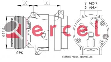 Airco compressor REK 010 OEM