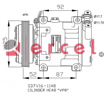 Airco compressor REK 006 OEM