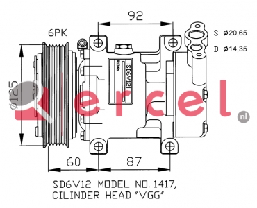 Airco compressor REK 008 OEM