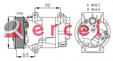 Airco compressor REK 064 OEM