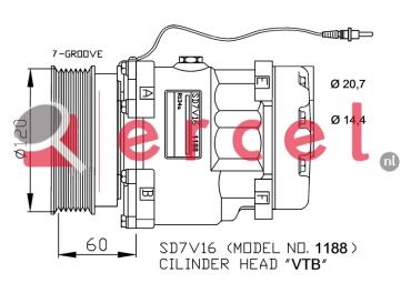 Airco compressor REK 075 OEM