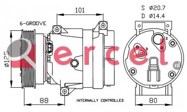 Airco compressor REK 051 OEM