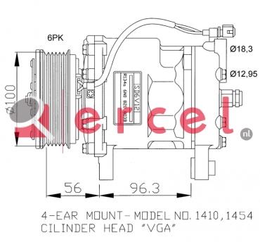 Airco compressor VWK 002 OEM