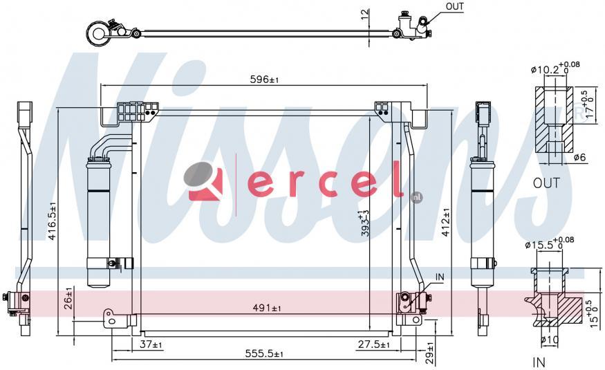 Airco condensor NIC 567