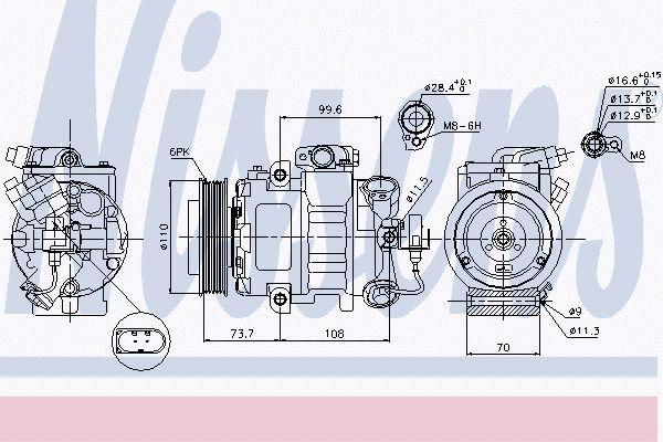 Airco compressor VWK 021