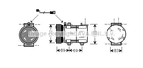 Airco compressor FOK 001