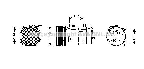 Airco compressor VWK 009
