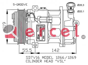 Airco compressor OPK 055