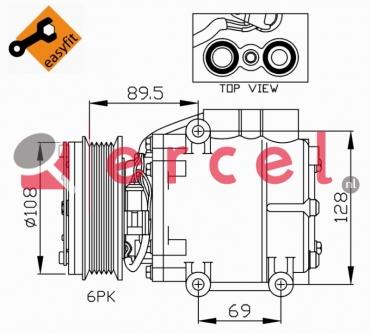 Airco compressor FOK 026