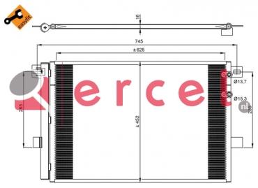 Airco condensor VWC 566