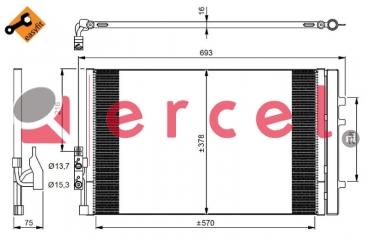 Airco condensor BMC 517