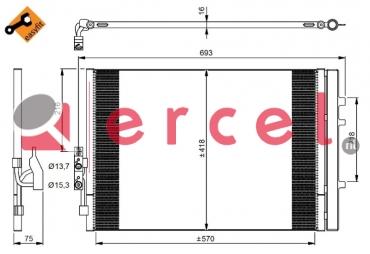 Airco condensor BMC 580