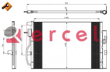 Airco condensor DWC 546