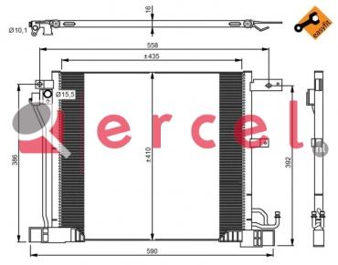 Airco condensor NIC 581