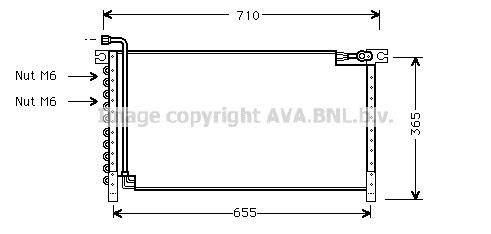 Airco condensor NIC 566