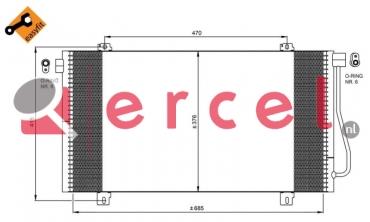 Airco condensor REC 527