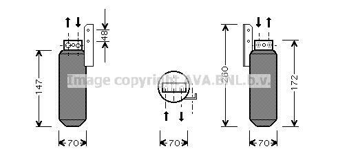 Airco droger/filter OPD 012