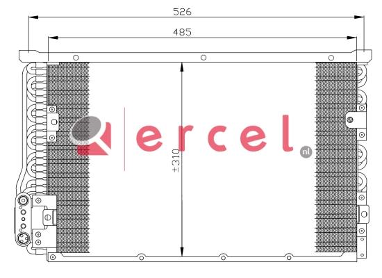 Airco condensor BMC 542
