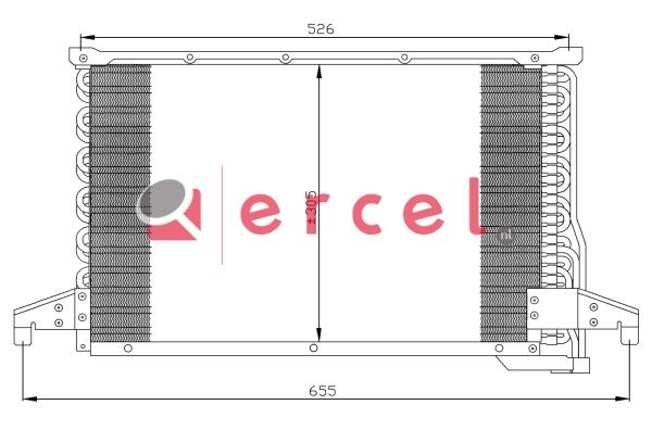 Airco condensor BMC 540