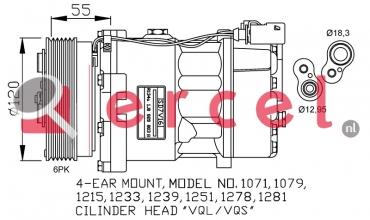 Airco compressor AUK 012 OEM