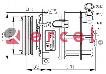 Airco compressor OPK 042