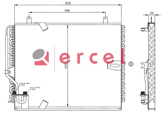 Airco condensor BMC 502