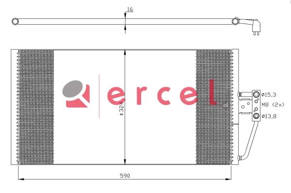 Airco condensor BMC 568