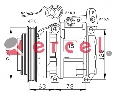 Airco compressor KAK 020