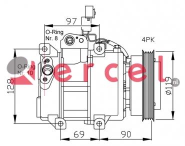 Airco compressor KAK 018