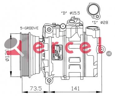 Airco compressor RVK 017