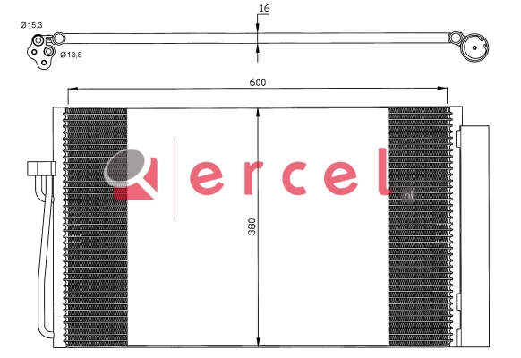 Airco condensor BMC 572