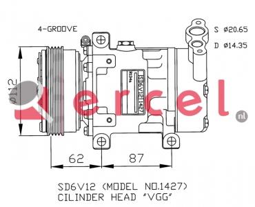 Airco compressor REK 053
