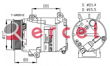 Airco compressor REK 068