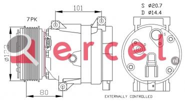Airco compressor REK 073