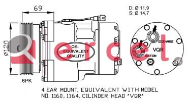 Airco compressor VWK 004