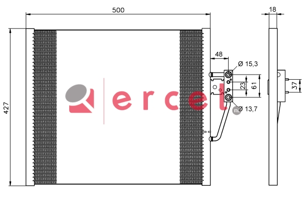 Airco condensor BMC 560