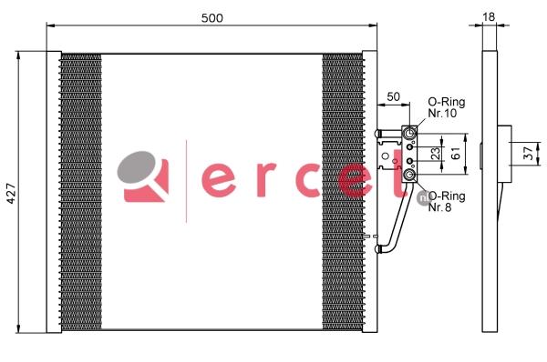 Airco condensor BMC 544
