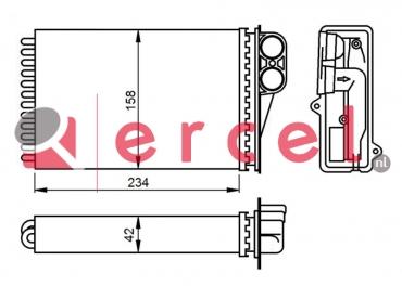 Kachelventilatormotor-/wiel PEB 266