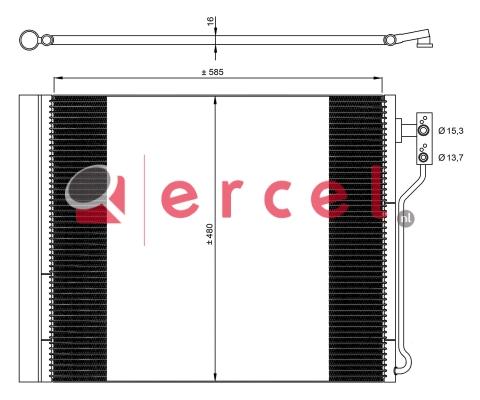 Airco condensor BMC 595