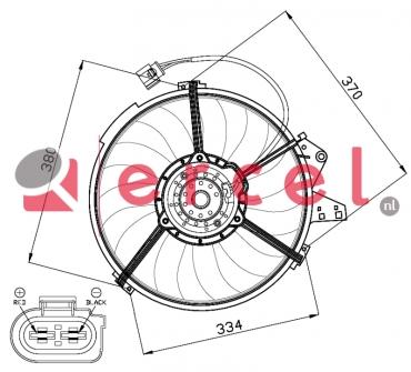 Ventilatorwiel motorkoeling AUF 010