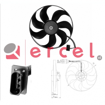 Ventilatorwiel motorkoeling AUF 009